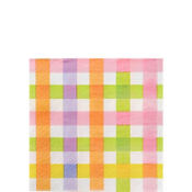Colorful Gingham Beverage Napkins 16ct