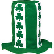 St. Patricks Day Stovepipe Top Hat 12in