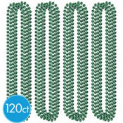 St. Patricks Day Green Bead Necklaces 120ct<span class=messagesale><br><b>17¢ per piece!</b></br></span>