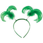 St. Patricks Day Feather Head Bopper 8in