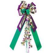 Mardi Gras Party Bow 28in
