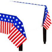 Americana Plastic Table Cover 54in x 96in