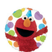 Foil Birthday Elmo Balloon 18in