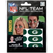 Green Bay Packers Eye Black Stickers 6ct
