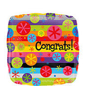 Foil Congrats Bubble Burst Balloon 18in