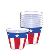 Stars & Stripes Plastic Tumblers 9oz 16ct