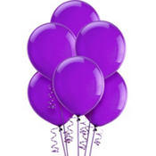 Purple Amethyst Latex Balloons 12in 15ct