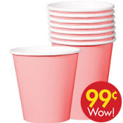 Value Pink Paper Cups 8ct