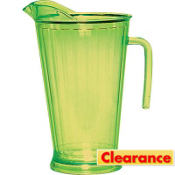 Lemon Lime Green Plastic Pitcher 64oz