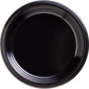 Black Plastic Dinner Plates 50ct