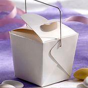 Pearl White Mini Wedding Favor Pails 12ct