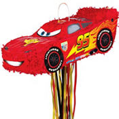 Pull String Lightning McQueen Pinata 18in