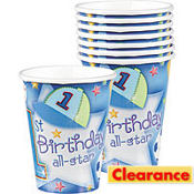 All-Star 1st Birthday Cups 18ct