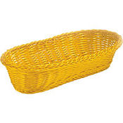 Yellow Rectangular Serving Basket 15in