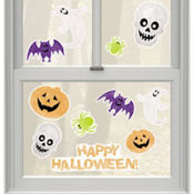 Vinyl Halloween Glitter Window Decorations 11pc
