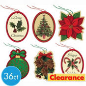 Christmas Traditions Tape-On Gift Tags 36ct