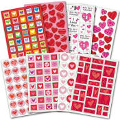 Valentines Day Stickers 1000ct