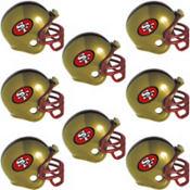 San Francisco 49ers Helmets 8ct