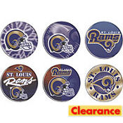 St. Louis Rams Buttons 6ct