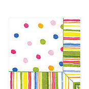 Smart Dots White Lunch Napkins 20ct