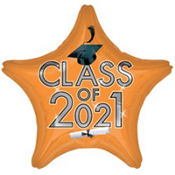 Orange Class of 2013 Star Graduation Balloon 19in