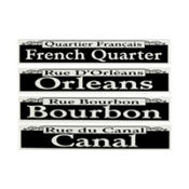New Orleans Street Signs Cutouts 24in 4ct