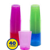 Assorted Color Plastic Tumblers 10oz 40ct