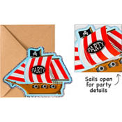 Jolly Roger Jumbo Invitations 8ct