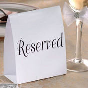 Reserved Table Cards 12ct