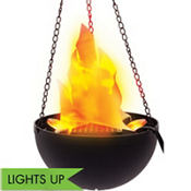 Hanging Electric Flame Light 8in
