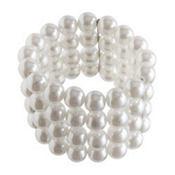 Multistrand Faux Pearl Bracelet