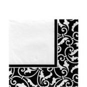 Black Ornamental Scroll Lunch Napkins 16ct