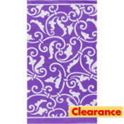 Purple Ornamental Scroll Guest Towels 16ct