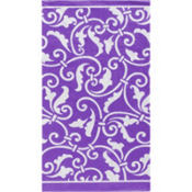 Purple Ornamental Scroll Hand Towels