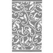 Silver Ornamental Scroll Hand Towels 16ct