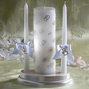 Sweetheart Wedding Unity Candle Set 3ct