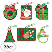 Holiday Friends Tape-On Gift Tags 36ct