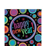 Modern New Year's Lunch Napkins 16ct