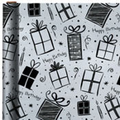Jumbo Silver Gifts Birthday Gift Wrap