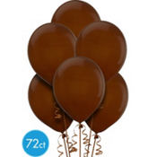 Chocolate Brown Latex Balloons 12in 72ct