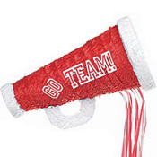 Pull String Red Megaphone Pinata 18in