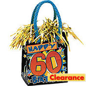 60th Birthday Mini Bag Balloon Weight 6oz