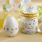 About to Hatch Kitchen Egg Timer Baby Shower Favor