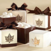 Fall Leaf Laser-Cut Wedding Favor Box 24ct
