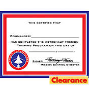 Space Odyssey Astronaut Certificates 12ct