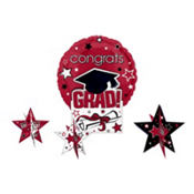 Berry Congrats Grad Graduation Balloon Centerpiece 5pc
