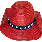 Red Patriotic Cowboy Hat