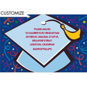 Big Grad Cap Custom Graduation Invitation