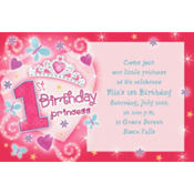 Princess 1st Birthday Custom Invitation