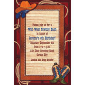 Giddy Up Cowboy Custom Invitation